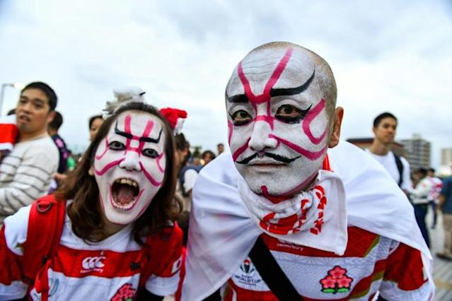 Millions of Japanese fans will tune in for the quarter-final against South Africa (AFP Photo/Kazuhiro NOGI)