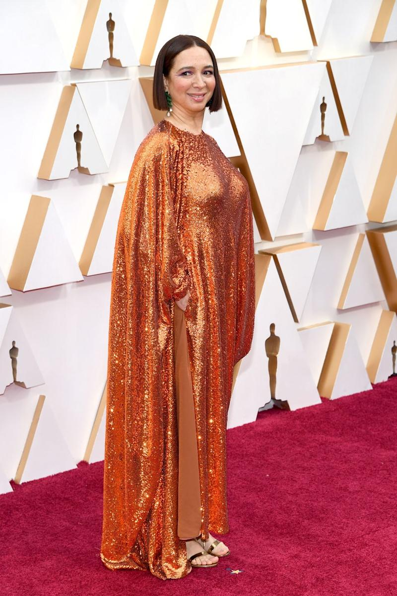 Maya Rudolph's Orange Sequin Gown Is the Most Divisive Dress of the 2020 Oscars
