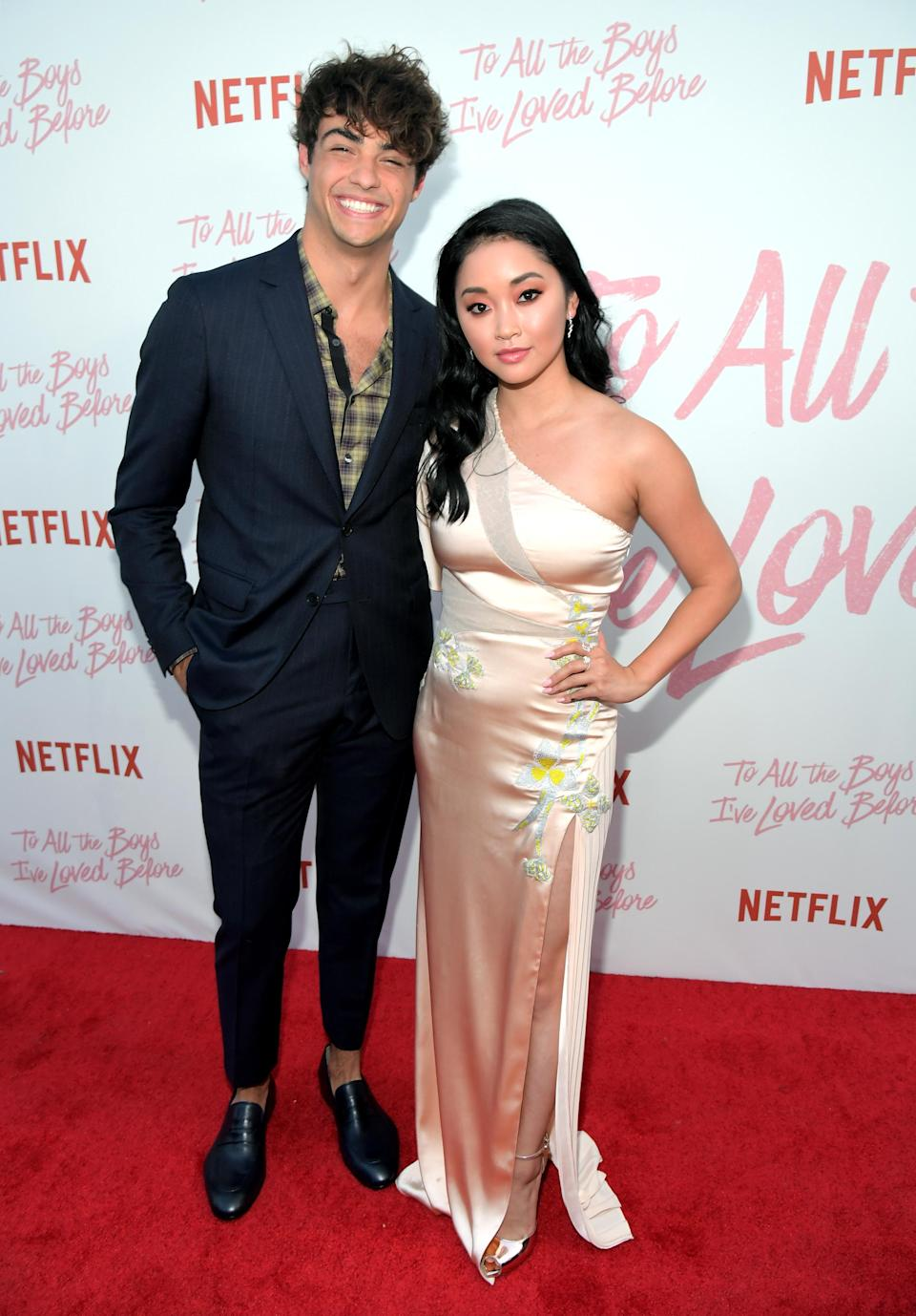 "Condor with her ""To All The Boys I've Loved Before"" co-star Noah Centineo. (Image via Getty Images)"