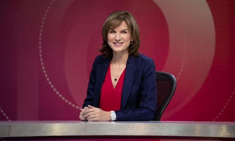 Fiona Bruce as host of Question Time.
