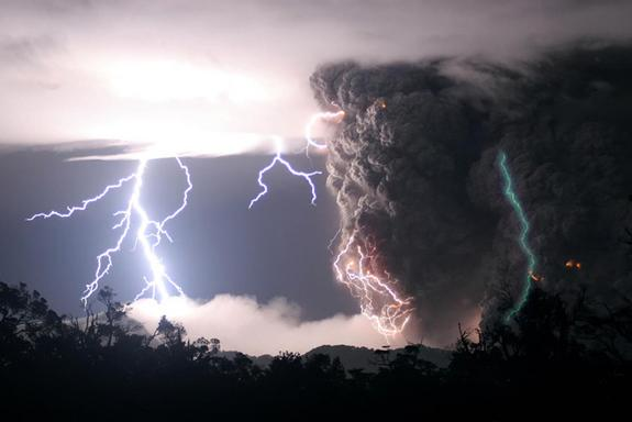Why Eerie Green Lightning Zapped an Erupting Volcano