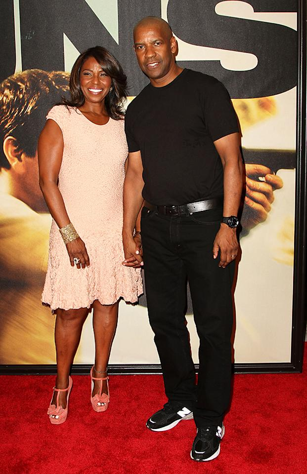"NEW YORK, NY - JULY 29:  (L-R) Pauletta Washington and Denzel Washington attend ""2 Guns"" New York Premiere at SVA Theater on July 29, 2013 in New York City.  (Photo by Monica Schipper/Getty Images)"