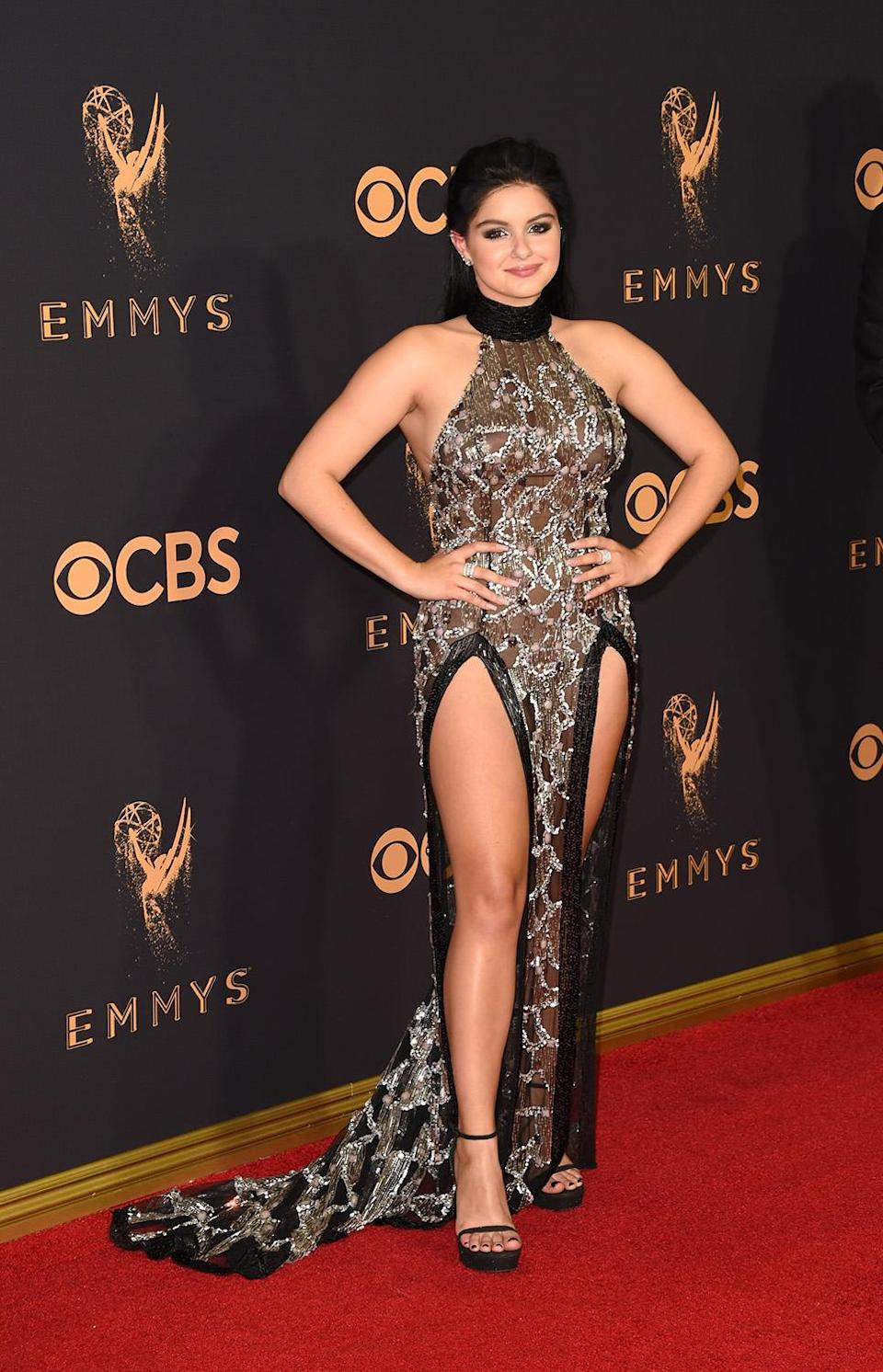 <p>Ariel Winter attends the 69th Annual Primetime Emmy Awards at Microsoft Theater on September 17, 2017 in Los Angeles, California. (Photo by J. Merritt/Getty Images) </p>