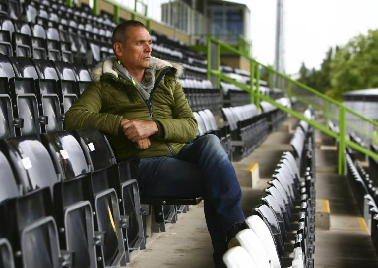 English fourth tier side Forest Green Rovers are to become the first team to wear bamboo shin pads taking another step in the battle against plastic use advocated by their chairman Dale Vince (AFP Photo/GEOFF CADDICK)