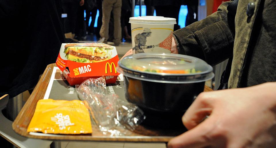McDonald's says it is committed to reducing its plastic waste. Source: Getty