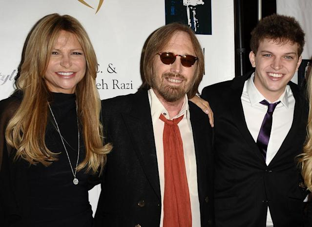 Tom Petty with his second wife, Dana Petty, and son, Dylan Petty, in 2011. (Photo: Getty Images)