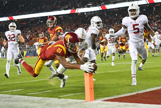 USC beat Stanford 31-28. (Getty)