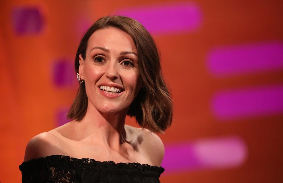 Suranne Jones during the filming for the Graham Norton Show at BBC Studioworks 6 Television Centre, Wood Lane, London, to be aired on BBC One on Friday evening.
