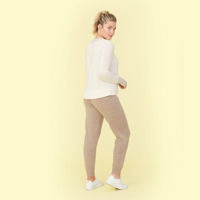 Summersalt The Coziest Cashmere Jogger in camel