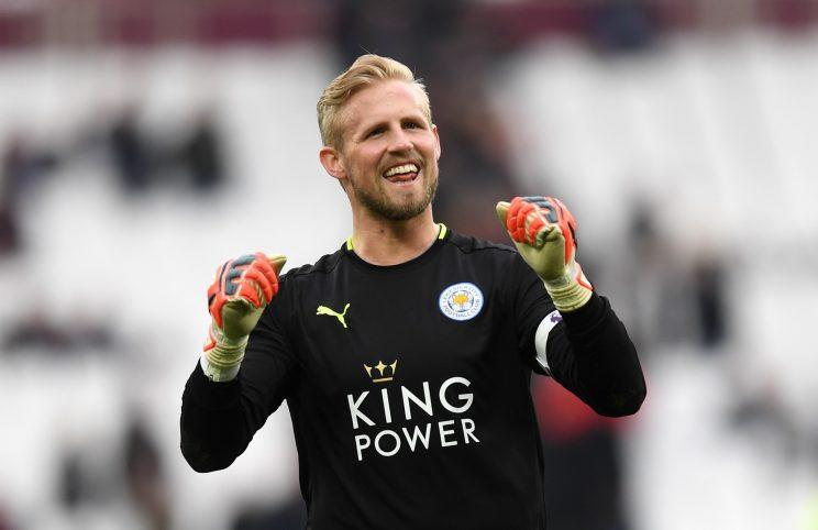 Kasper Schmeichel was one of the heroes again for Leicester