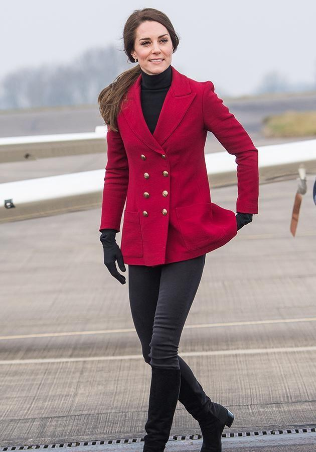 Kate Middleton spent Valentine's Day with Air Force Cadets. Photo: Getty