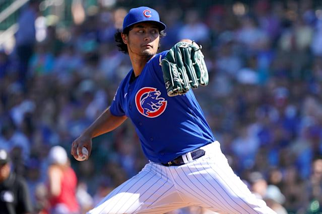 Yu Darvish is back to sporting his wipeout stuff. (Photo by Masterpress/Getty Images)
