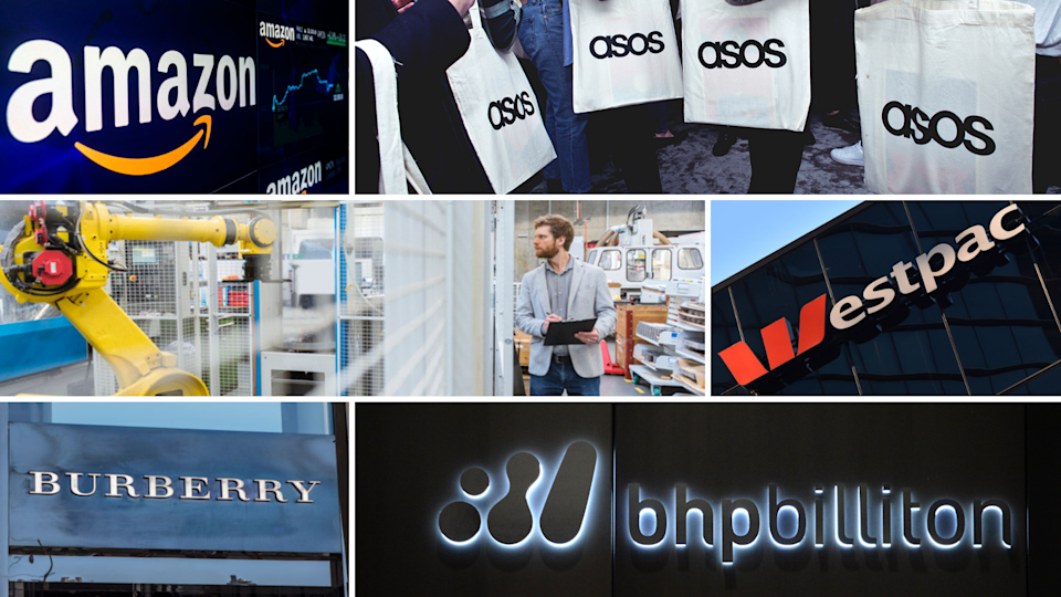 Amazon, Asos, Westpac, Burberry and BHP are among some companies that have been earmarked by UBS as positively positioned in a future with artificial intelligence. <em>Photos: Getty</em>