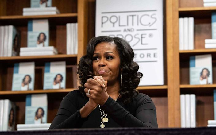 "Michelle Obama said racism in the US was ""exhausting"" - AFP/GETTY IMAGES"
