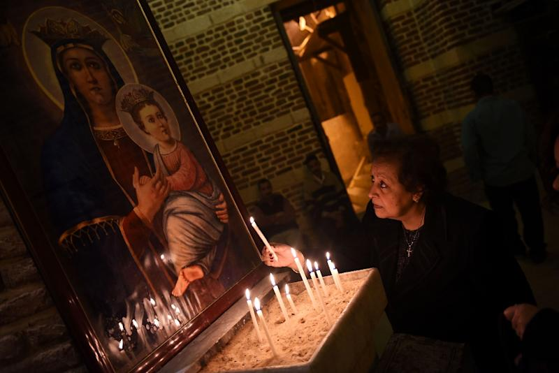 Coptic Christians make up around 12 percent of Egypt's population of 100 million (AFP Photo/MOHAMED EL-SHAHED)
