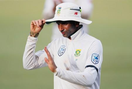 Maharaj's maiden fifty pushes South Africa to 275