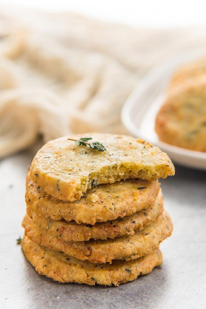 """<p>Looking for something savory? Here's your guy.</p><p>Get the recipe from <a href=""""https://www.theflavorbender.com/thyme-cheddar-cheese-cookies/"""" rel=""""nofollow noopener"""" target=""""_blank"""" data-ylk=""""slk:The Flavor Bender."""" class=""""link rapid-noclick-resp"""">The Flavor Bender.</a><br></p>"""
