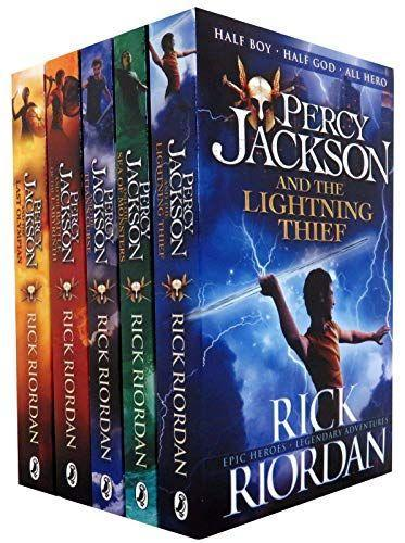 "<p><strong>Percy Jackson</strong></p><p>amazon.com</p><p><strong>$22.10</strong></p><p><a href=""https://www.amazon.com/dp/B00RWR3HV8?tag=syn-yahoo-20&ascsubtag=%5Bartid%7C2139.g.35353184%5Bsrc%7Cyahoo-us"" rel=""nofollow noopener"" target=""_blank"" data-ylk=""slk:Shop Now"" class=""link rapid-noclick-resp"">Shop Now</a></p><p>A young boy discovers that he's the son of the powerful God of the Sea. As he and his friends go on multiple adventures, readers learn more about mythology and root for the underdogs to win whatever battle they encounter. </p>"