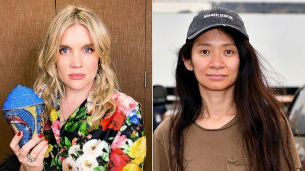 PHOTO: Oscar-nominated directors Emerald Fennell and Chloe Zhao. (Getty Images)