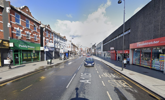 High Road, in the Stamford Hill area, where a teenager is alleged to have been punched in the stomach (Google Maps)