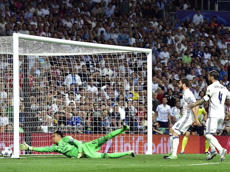 Ramos' bizarre own goal took the game to extra time (Getty)