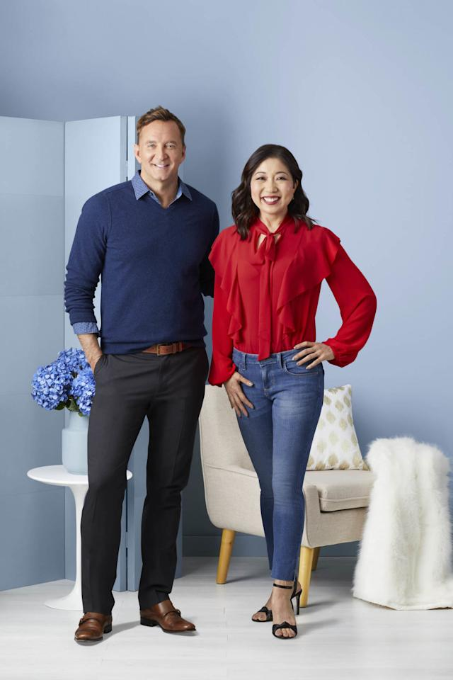 "<p>The jeans-and-blouse look is back! It's super easy: Find a top you love because of its print or color. Add in a great pair of flattering jeans, and you're done. There's no need to fret about anything else, because the blouse is the accessory.</p><p><strong>Lainie says: </strong>""It's on-trend and sexy. I love the little bit of fray at the bottom of the jeans. I'm a working mom, so this is something I can throw on that's simple and stylish. I don't have to overthink it.""</p>"