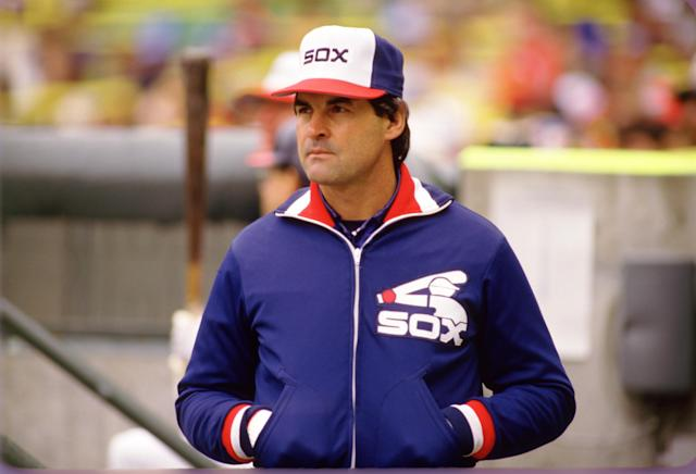 Tony La Russa allegedly set up an illegal sign-stealing operation at Comiskey Park before the White Sox fired him as manager in 1986. (Photo by Ron Vesely/MLB Photos via Getty Images)