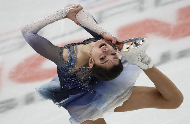 Russia intends to send two-time world figure skating champion Evgenia Medvedeva to PyeongChang. (AP)