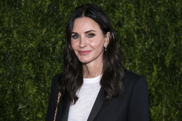 Courteney Cox was in Edinburgh to watch Snow Patrol perform (AP)