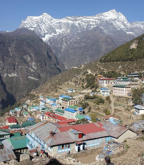 Namche Bazaar: From Phakding, after walking for 4 hours, the climb to Namche Bazaar just goes up and up for another 3 to 4 hours. But if you can grit your teeth and walk, the place is stunning. On a clear day one can catch a glimpse of Mount Everest from Namche. There is a military museum close to the Everest View Point, also worth a look.