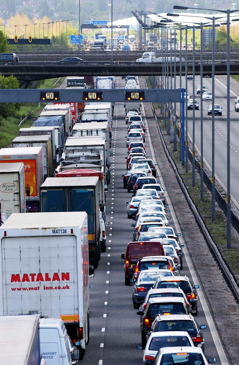 File photo dated 22/05/03 of traffic on the M6. Britain's roads are more travelled than ever according to latest figures published by the Department for Transport.