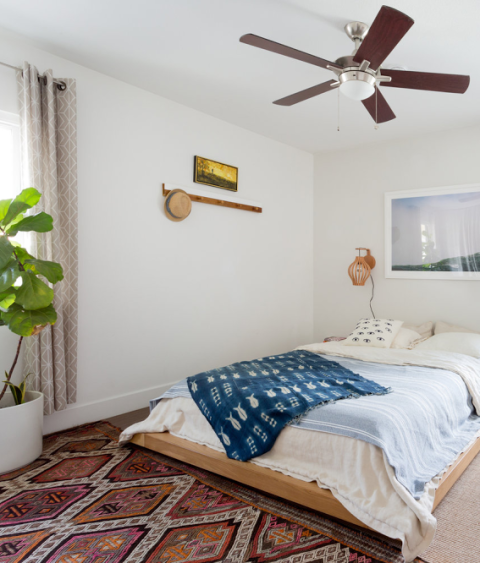 """<p>Most of us think that to fuel our creativity or maximize productivity, we should focus on fixing up our living room and work space. Not so, according to Los Angeles-based interior designer and owner of Veneer Design, Natalie Myers. """"Most people save their bedroom design budget for after they've finished their public areas,"""" she explains, """"and then they find themselves uninspired when they first wake up and when they retire for the night."""" <span></span></p><p><span>Instead, Myers recommends focusing your design dollars on your bedroom, first and foremost. """"Have your favorite books, not your phone, at arm's reach, display beautiful framed art on your bedroom walls, and treat yourself to luxurious bedding.""""<span></span><br></span></p>"""