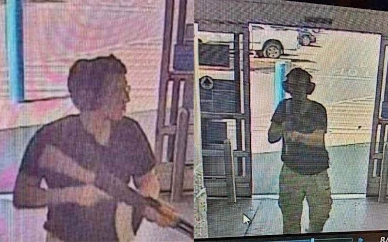 This CCTV image obtained by KTSM 9 news channel reportedly shows the gunman entering the Cielo Vista Walmart store in El Paso on august 3, 2019.  - AFP