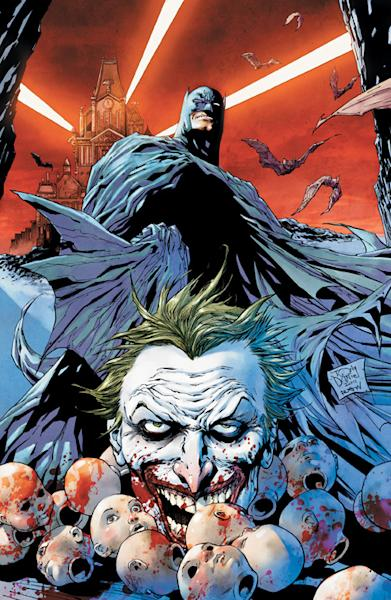 """FILE - In this file photo of a comic book image released by DC Comics, the cover of the new Detective Comics No. 1, featuring Batman and The Joker, are shown. Fans fear the mass shooting at a midnight screening of """"The Dark Knight Rises"""" in Aurora, Colo. on Friday, July 20, 2012, will forever be associated with the legend of Batman. (AP Photo/DC Comics, File)"""