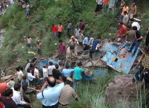The accident occurred near Chamba district, a mountainous region some 191 kilometres from the state capital Shimla
