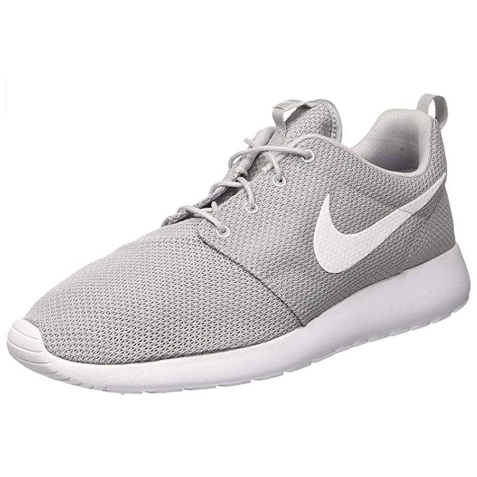 """<p><strong>Nike</strong></p><p>amazon.com</p><p><strong>$78.06</strong></p><p><a href=""""https://www.amazon.com/dp/B00L88ZZLC?tag=syn-yahoo-20&ascsubtag=%5Bartid%7C2139.g.36608417%5Bsrc%7Cyahoo-us"""" rel=""""nofollow noopener"""" target=""""_blank"""" data-ylk=""""slk:BUY IT HERE"""" class=""""link rapid-noclick-resp"""">BUY IT HERE</a></p><p>With a soft foam midsole and breezy mesh upper, the Roshe sneaker will quickly become your go-to shoe for commuting or running errands. It's all down to the cushioned collar and soft sockliner, which combine for one uber-plush design. (Not to mention, the simple style goes with pretty much anything.)</p>"""