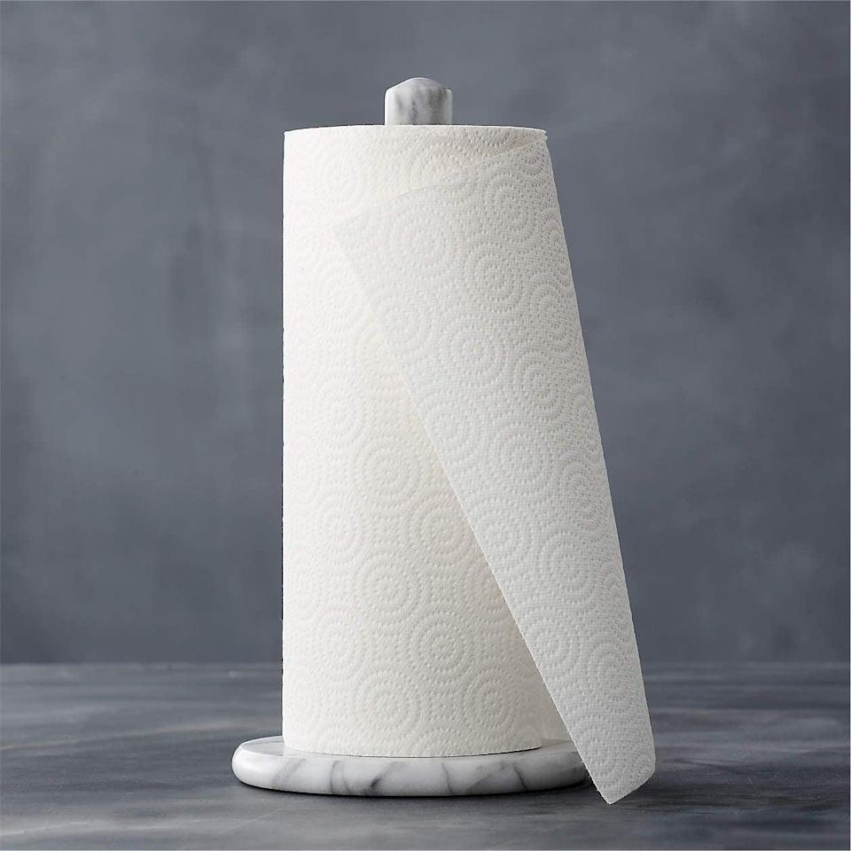 <p>Who says your <span>French Kitchen Marble Paper Towel Holder</span> ($25) has to be boring?</p>
