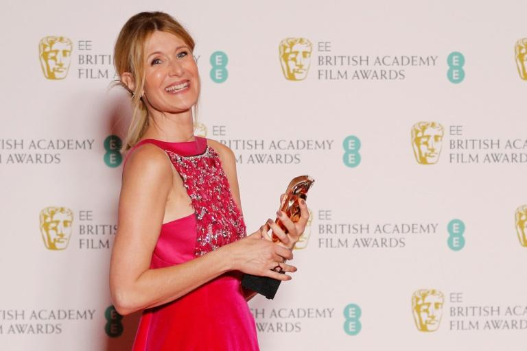 """US actress Laura Dern -- the favorite to win the Oscar for best supporting actress for """"Marriage Story"""" -- is the daughter of actor Bruce Dern and actress Diane Ladd"""
