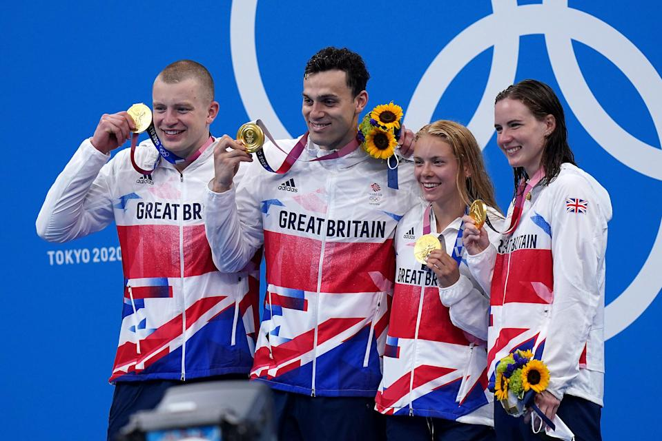 Great Britain celebrated more success in the pool on Saturday (Adam Davy/PA) (PA Wire)