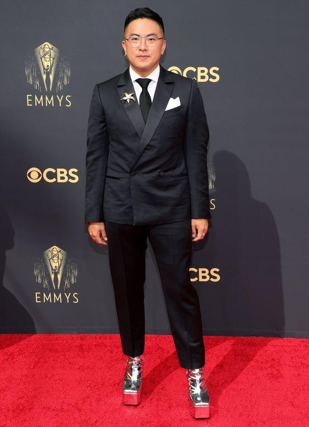 Bowen Yang attends the 73rd Primetime Emmy Awards. (Photo: Rich Fury via Getty Images)
