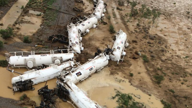 A derailed freight train in northwest Queensland is set to undergo further tests.