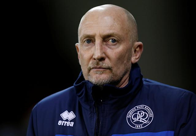 "Soccer Football - Championship - Sheffield United vs Queens Park Rangers - Bramall Lane, Sheffield, Britain - February 20, 2018 Queens Park Rangers manager Ian Holloway before the match Action Images/Ed Sykes EDITORIAL USE ONLY. No use with unauthorized audio, video, data, fixture lists, club/league logos or ""live"" services. Online in-match use limited to 75 images, no video emulation. No use in betting, games or single club/league/player publications. Please contact your account representative for further details."