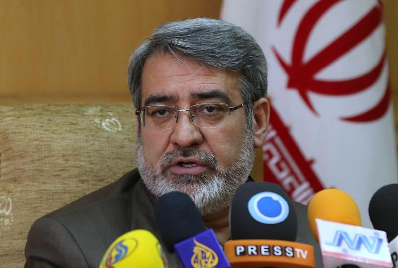 "Iranian Interior Minister Abdolreza Rahmani Fazli, pictured on March 18, 2014, said Iran was providing both Syria and Iraq with aid ""in advisory form"""