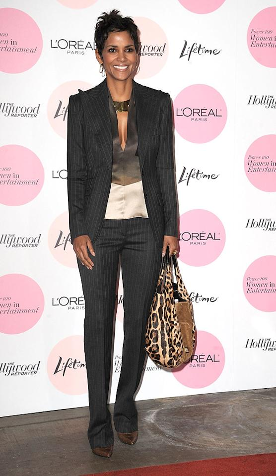 """<a href=""""http://movies.yahoo.com/movie/contributor/1800019906"""">Halle Berry</a> attends the Hollywood Reporter's Power 100: Women In Entertainment Breakfast at Beverly Hills Hotel on December 7, 2010 in Beverly Hills, California."""