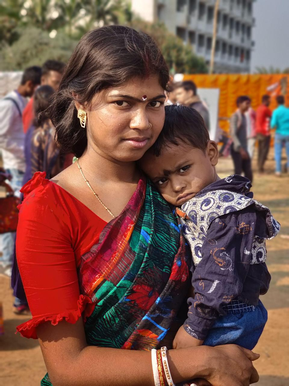 Radha Maal with her son Ronny.