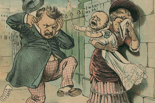 "In 1884, Republicans nominated former Speaker of the House James G. Blaine for President against Democrat Grover Cleveland, who reportedly fathered an illegitimate child. Republicans started the mocking chant ""Ma Ma Where's My Pa,"" because what better way to win an election than to sound like screaming children? When Cleveland won the White House, his supporters added the rejoinder ""Gone to the White House, ha ha ha"" which, in the 19th century, qualified as a pretty major burn."