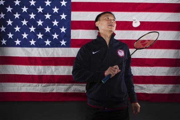 Badminton player Tony Gunawan poses for a portrait during the 2012 U.S. Olympic Team Media Summit in Dallas, May 14, 2012.