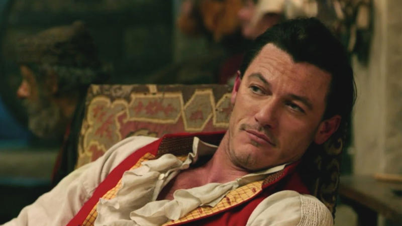 Luke Evans as Gaston in 'Beauty and the Beast'. (Credit: Disney)