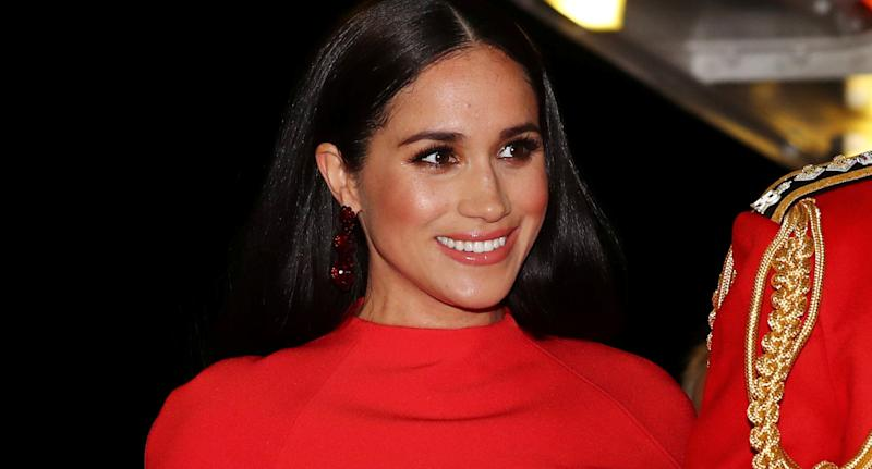 Meghan, Duchess of Sussex. (Photo by SIMON DAWSON / POOL / AFP)