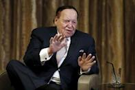 Gambling giant Las Vegas Sands Corp's Chief Executive Sheldon Adelson speaks during an inteview with Reuters in Macau, China, December 18, 2015. REUTERS/Tyrone Siu